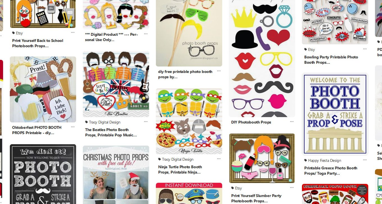 Fotobox Vorlagen zum Ausdrucken - DIY